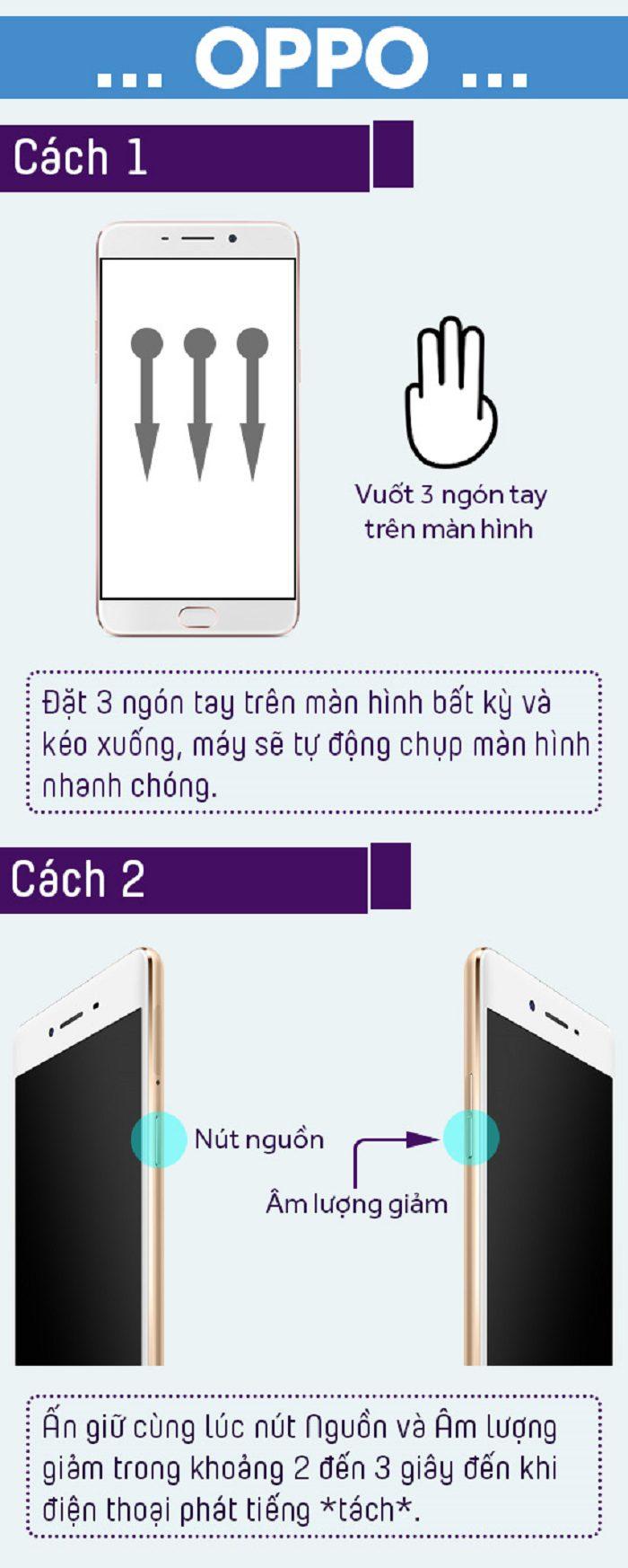 Chụp màn hình điện thoại Oppo
