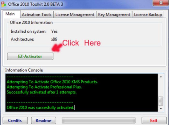 Crack Office 2010 – Giúp Active Office 2010 vĩnh viễn thành công 100%