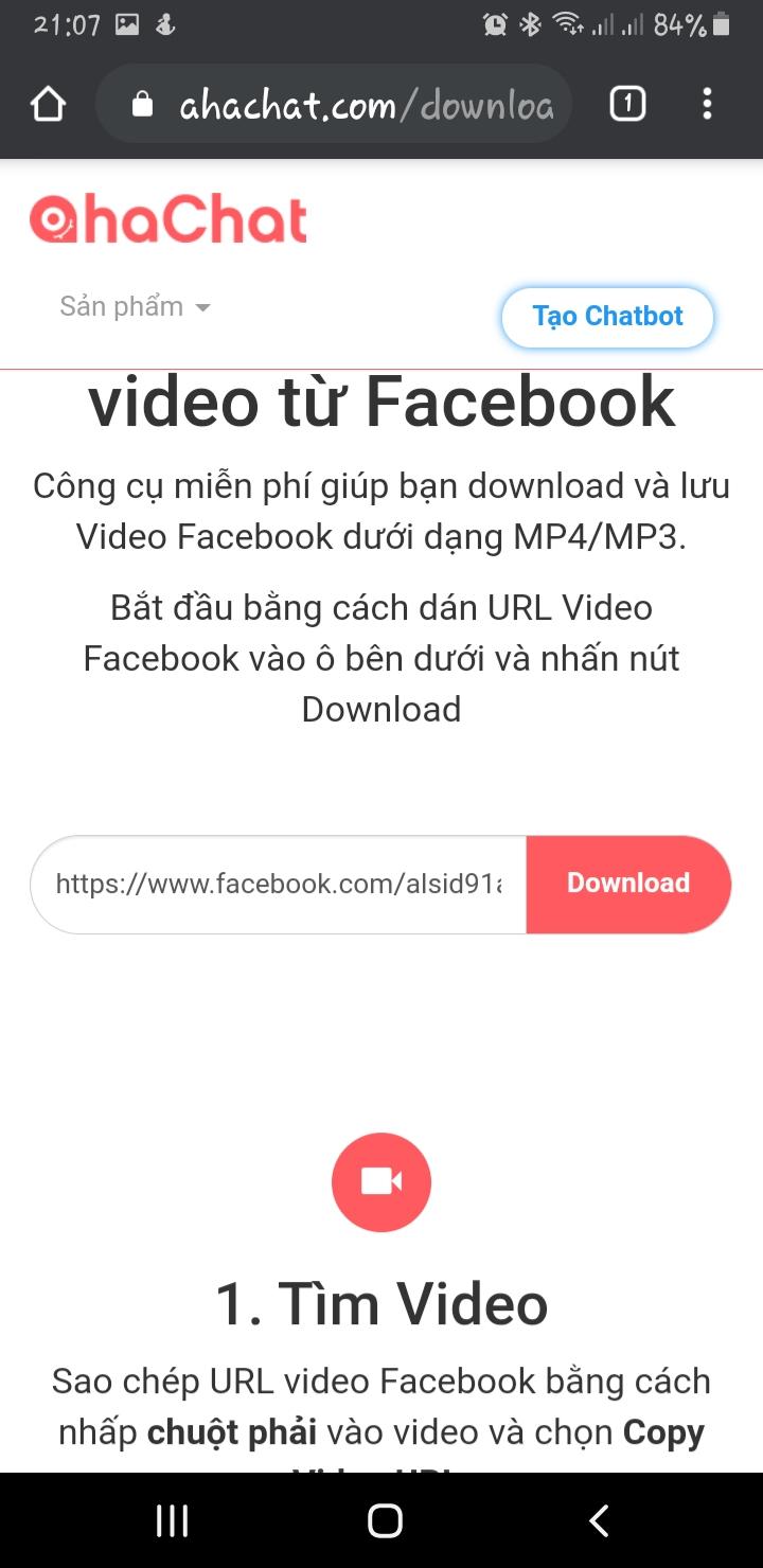 Hướng dẫn tải video facebook trên điện thoại