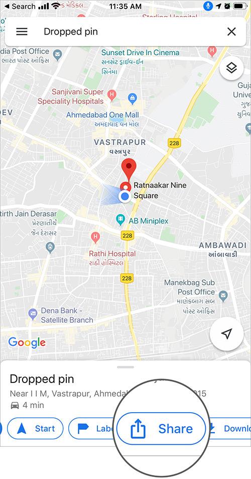 Cách đánh dấu địa điểm trong Google Maps trên điện thoại