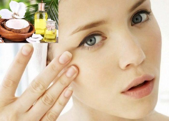 Cách trị thâm quầng mắt bằng dầu Dừa hiệu quả tại nhà
