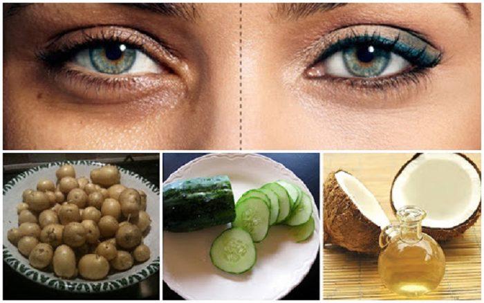 Sử dụng hỗn hợp dầu dừa, khoai tây và dưa chuột