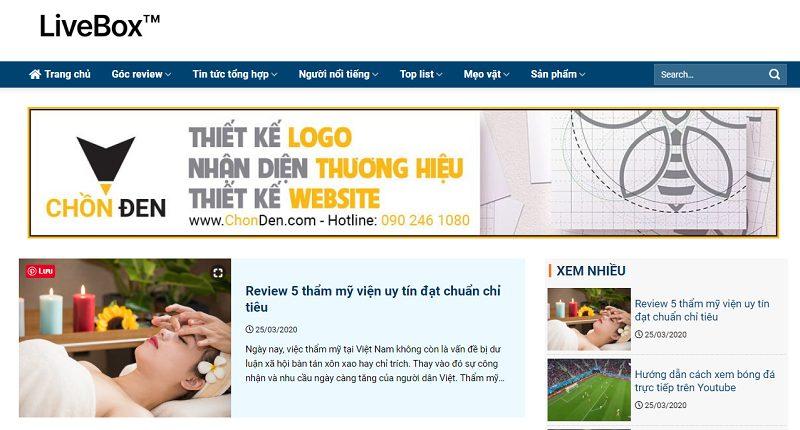 LiveBox™ Trang thông tin tổng hợp chính xác và hay nhất hiện nay