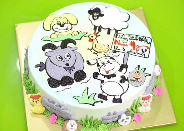 4+ Ý tưởng bánh sinh nhật hình các con vật siêu ngộ nghĩnh