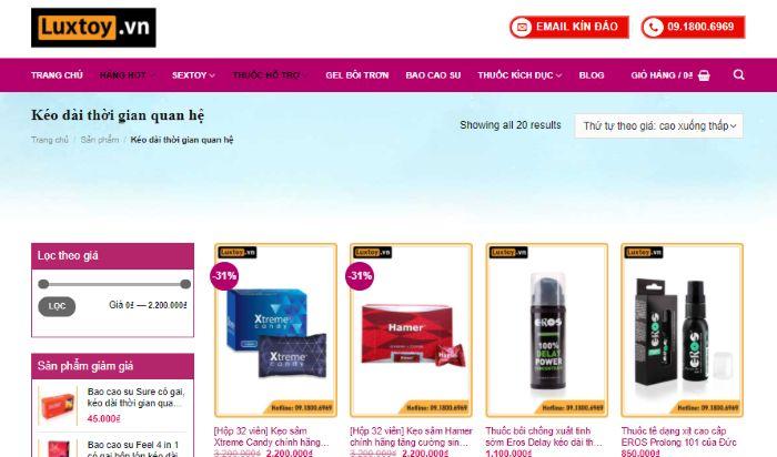 Top những sản phẩm được bán trên shop Luxtoy.vn được ưa chuộng