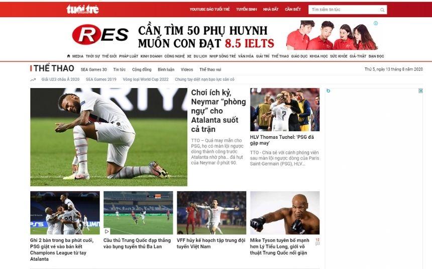 5 trang báo bóng đá Việt Nam cực chuẩn hiện nay