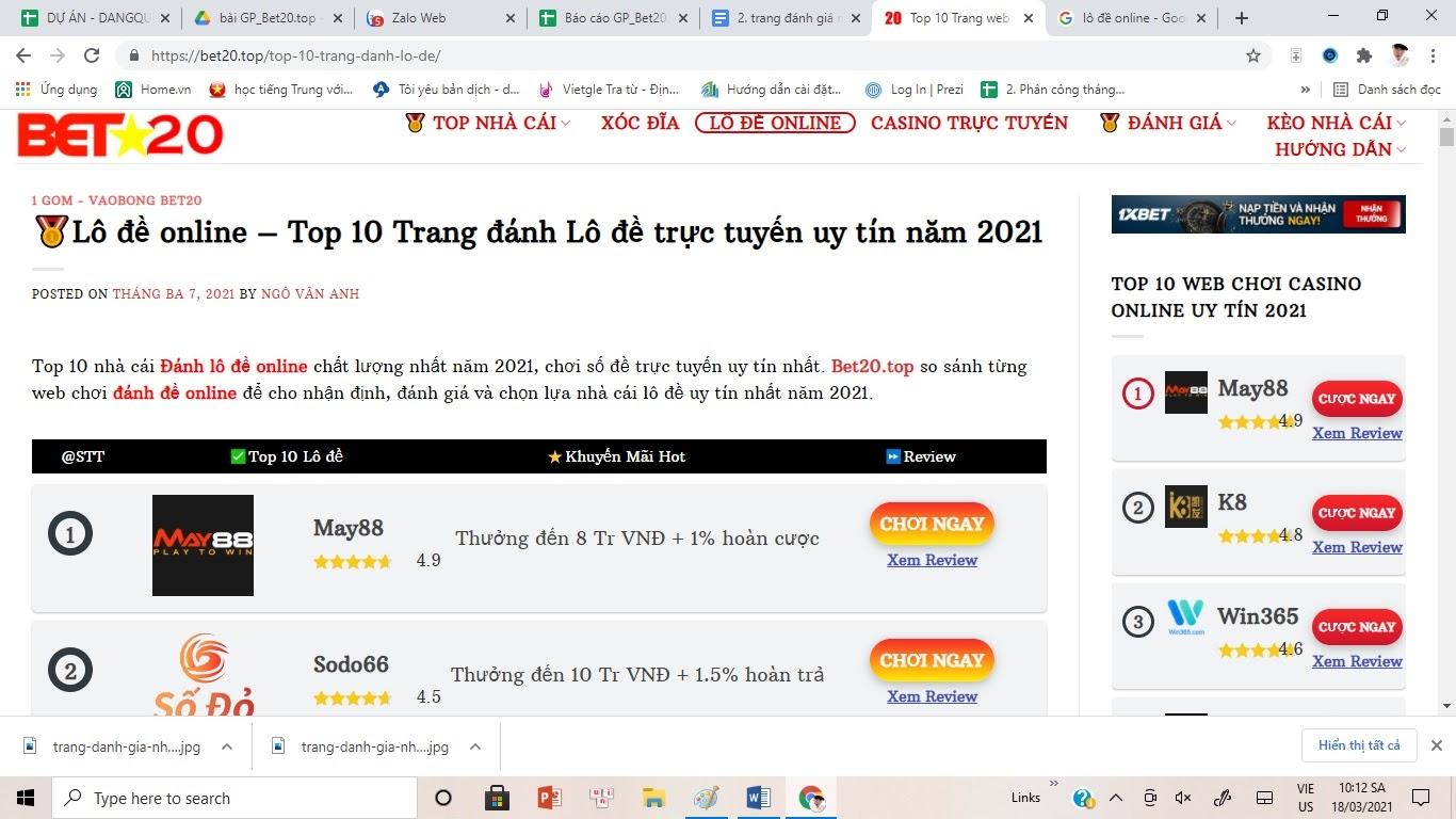 Bet20.top Trang đánh giá nhà cái lô đề uy tín tại Việt Nam