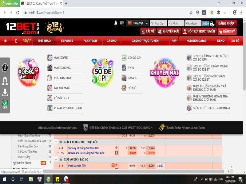 Loto188 - Hướng dẫn đăng ký chơi lotto 188 tại 12bet